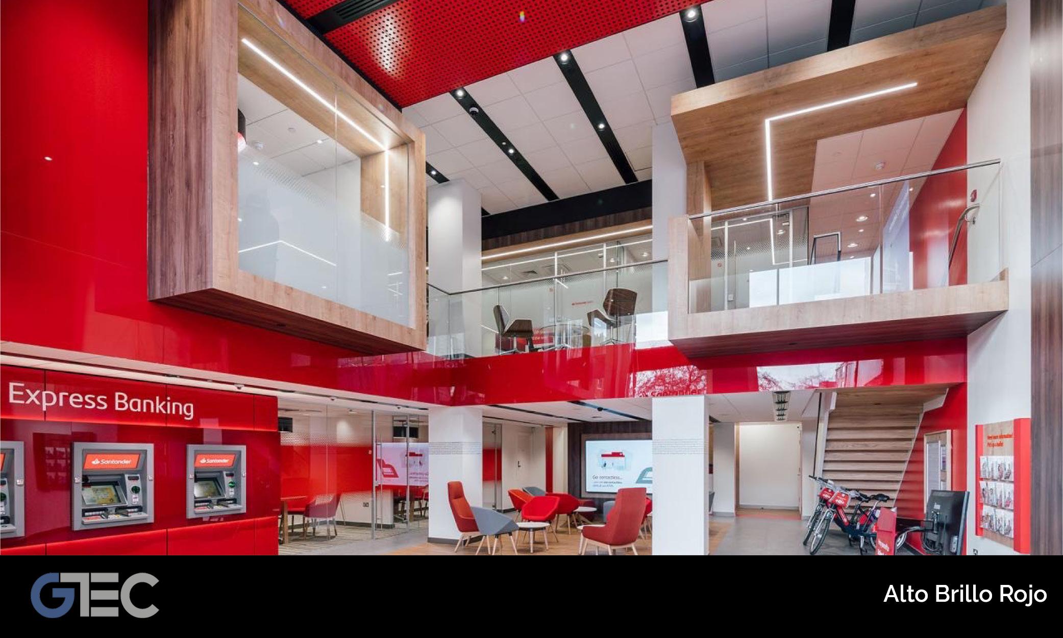 panel alto brillo rojo de GTEC