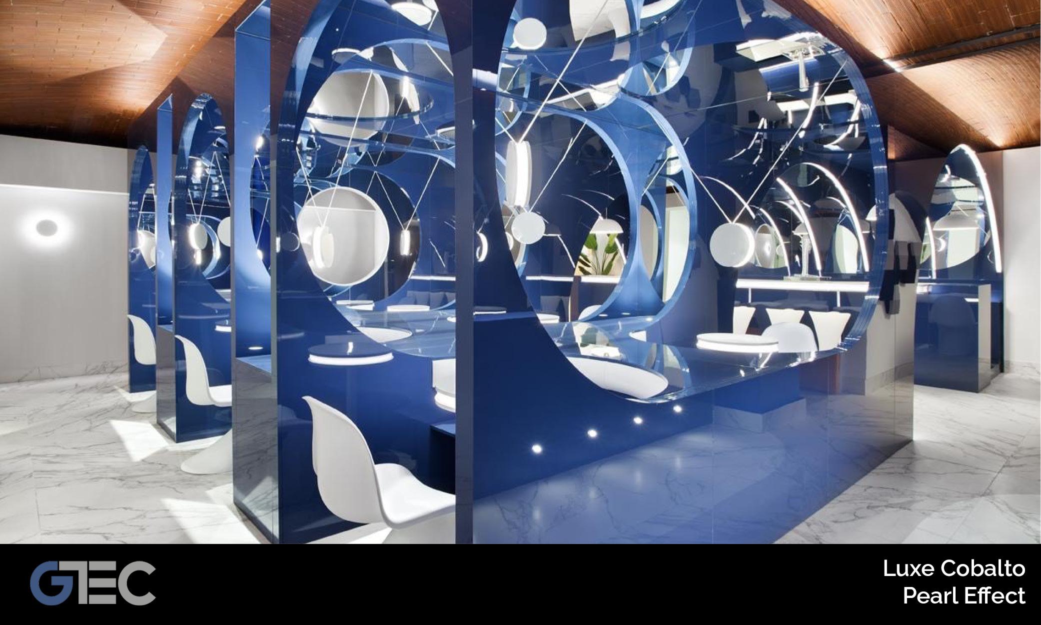 panel premium luxe cobalto pearl effect