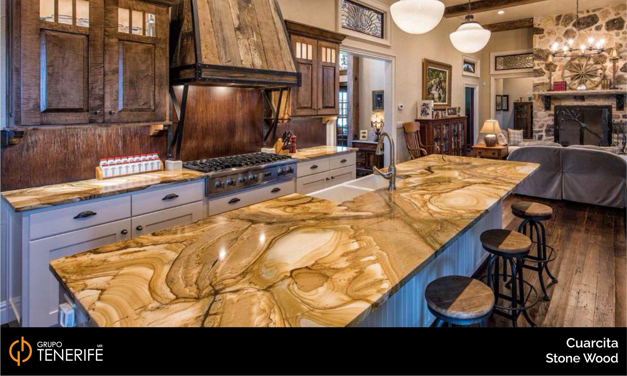 cuarcita stone wood