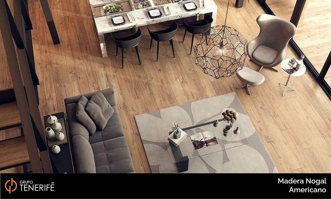 piso de madera nogal americano