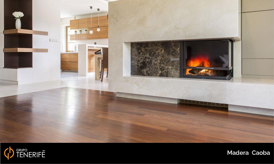 piso de madera caoba