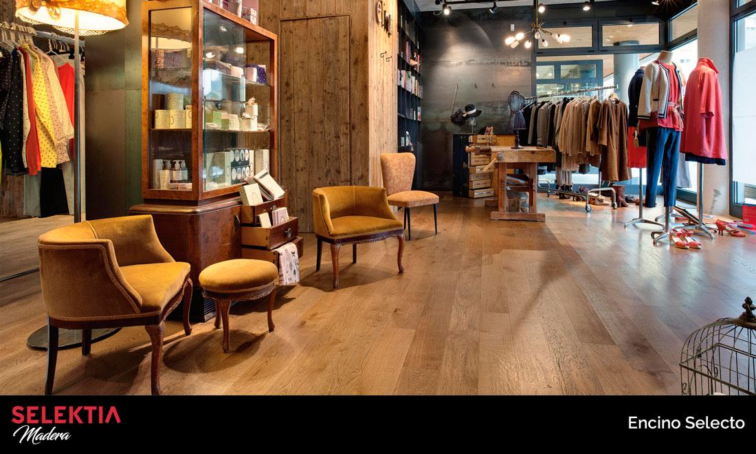 piso de madera encino selecto
