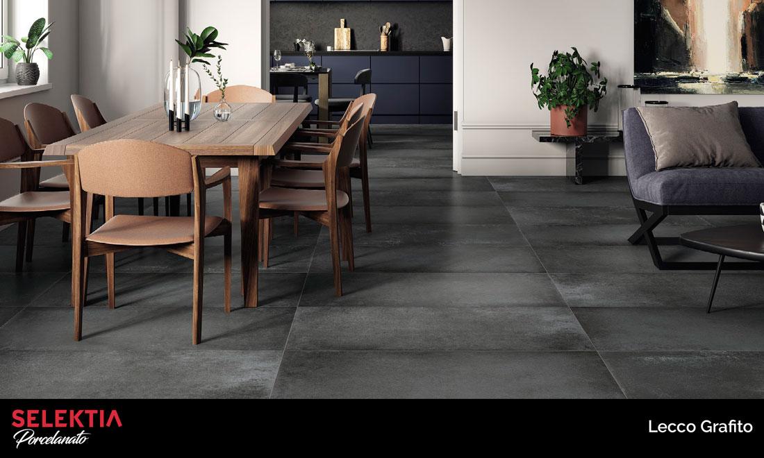 piso de porcelanato diseño cemento