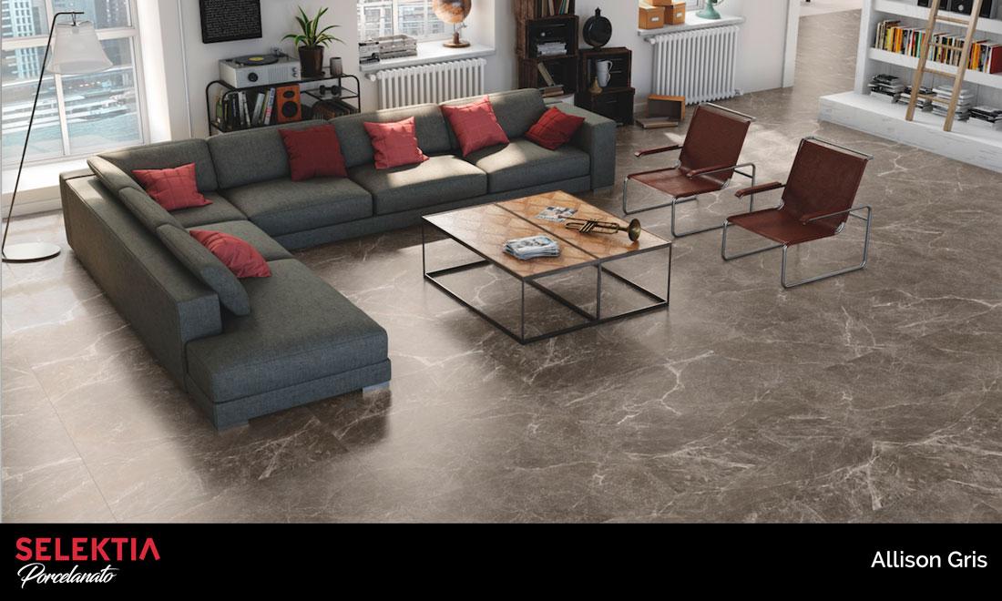piso de porcelanato allison gris