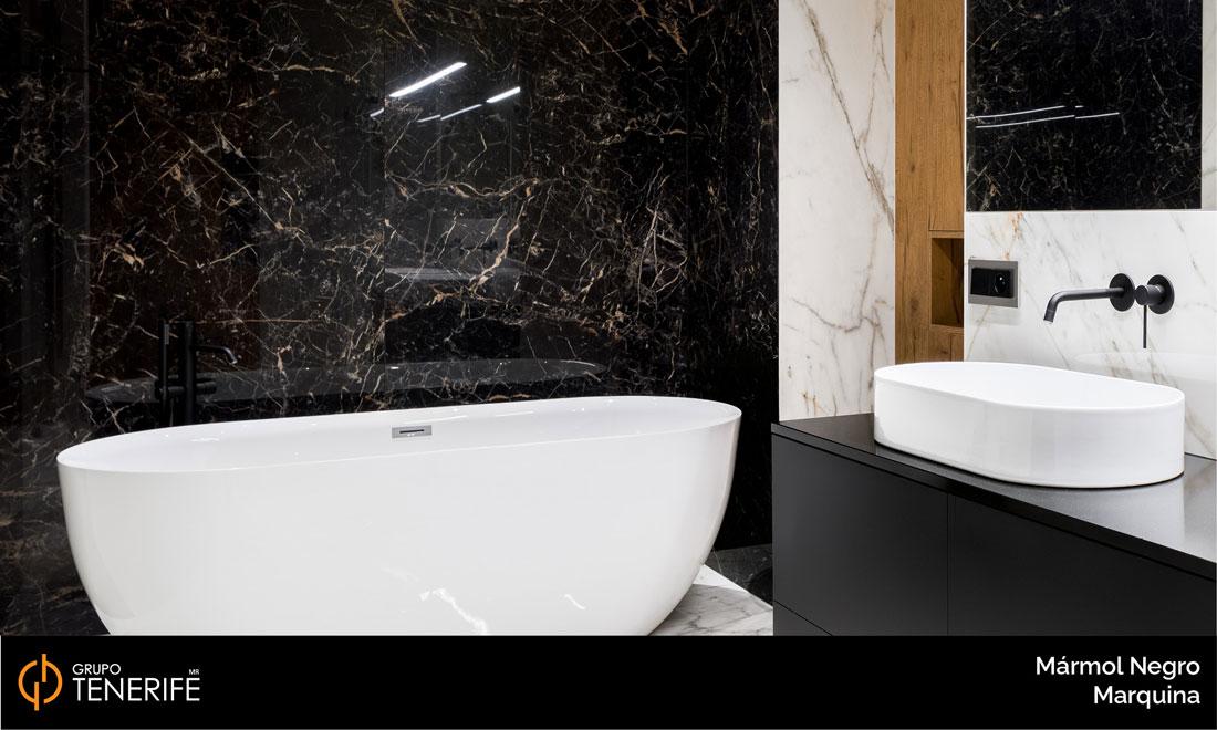 marmol negro marquina